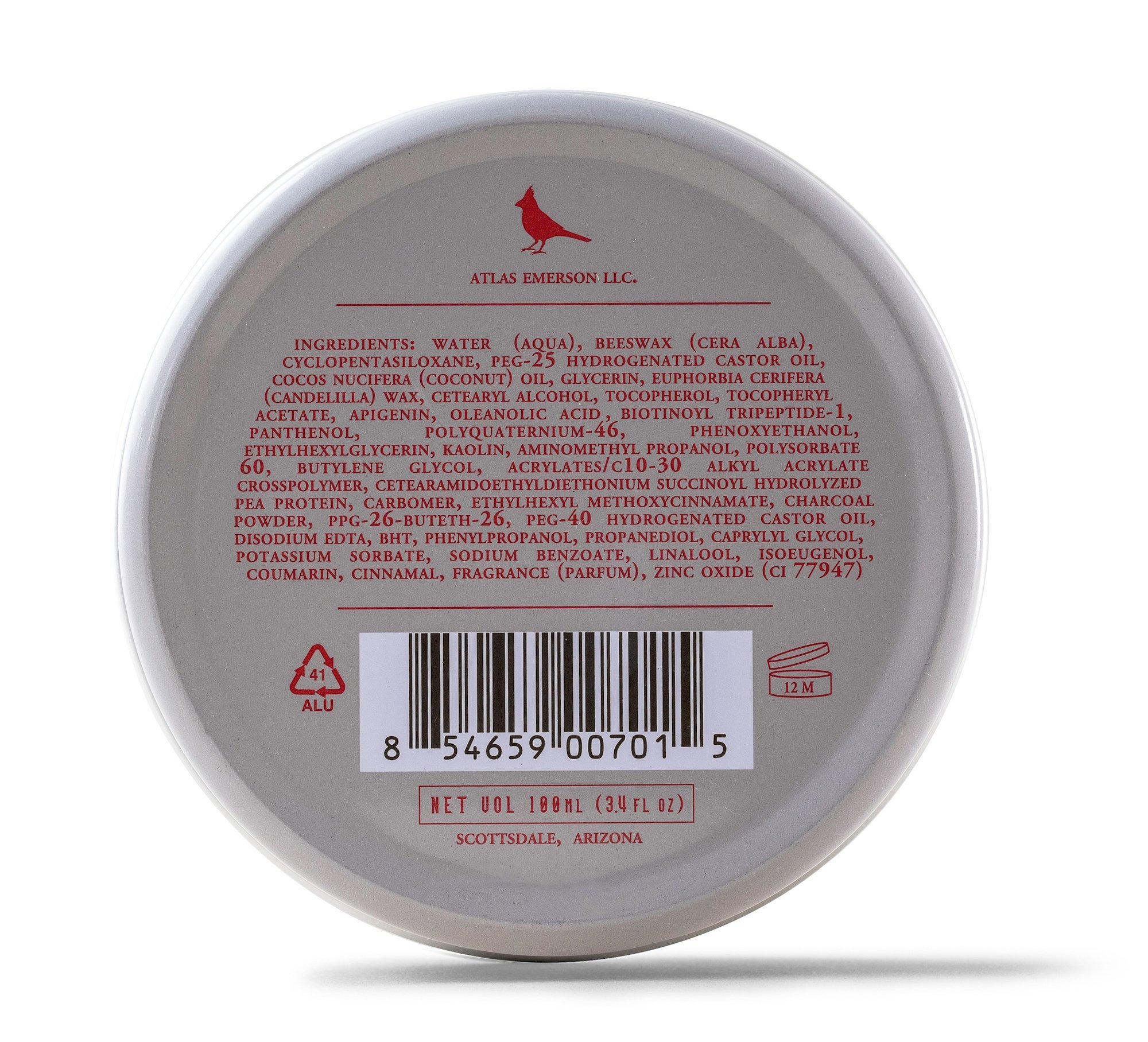 The Cardinal Brand Atlas Matte Texture Clay 3.4 Ounce is an Ultra Lightweight, Matte Hair Clay, Medium to Firm Hold, Thickening, Volume Building, Hair Styling and Grooming Product for Men and Women by The Cardinal Brand (Image #2)
