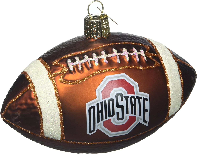 Old World Christmas Glass Blow Christmas Ornament Ohio State Football