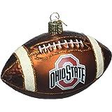 Old World Christmas Ohio State University Football Glass Blown Christmas Ornament