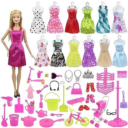 Amazon.com: EC2TOY 10 piezas hechas a mano vestidos de ...