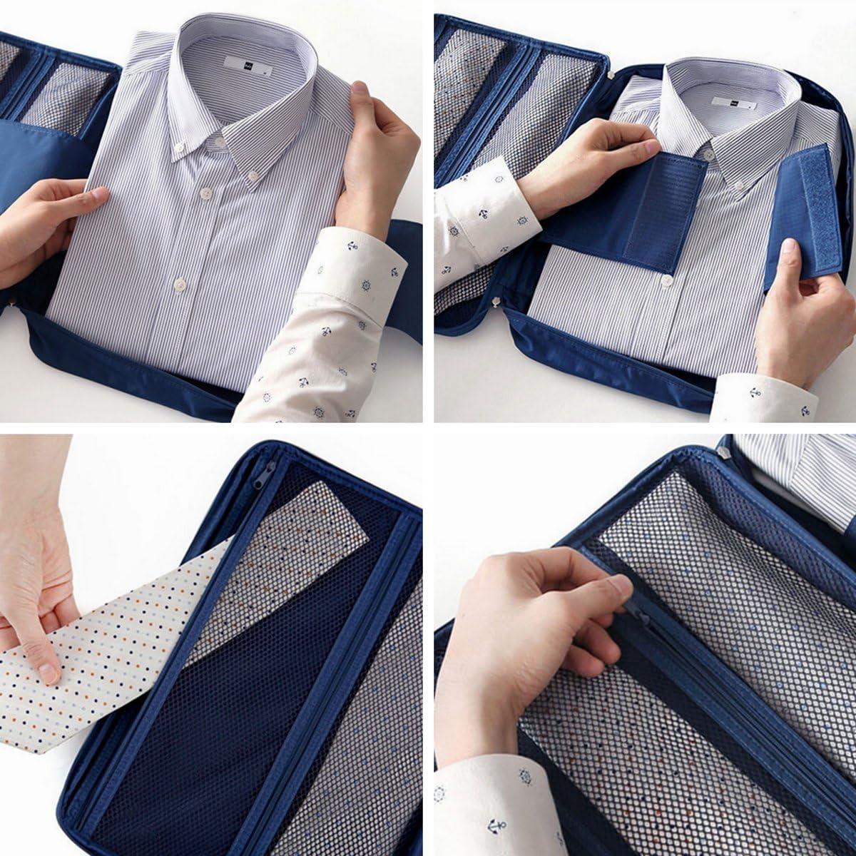 Organiseur de Voyage pour Chemises et Cravates Marine Sac de Rangement R/ésistant et Etanche pour Valises et Bagages Ducomi/® Cloonie