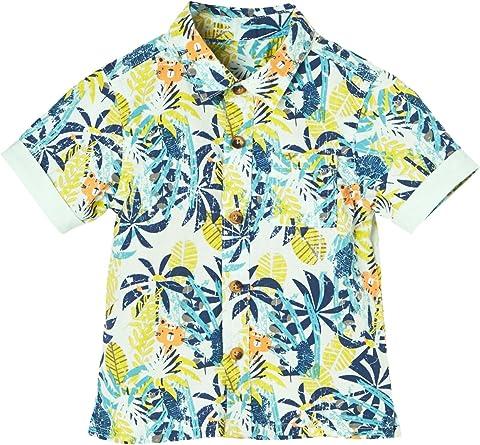 VERTBAUDET Camisa con Estampado Tropical para bebé niño Verde Claro Estampado 24M-86CM: Amazon.es: Ropa y accesorios
