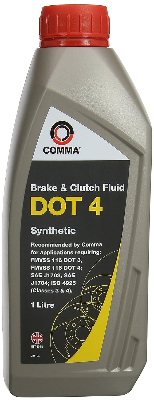 Comma BF41L DOT 4 - Líquido de frenos y embrague (1 l): Amazon.es: Coche y moto