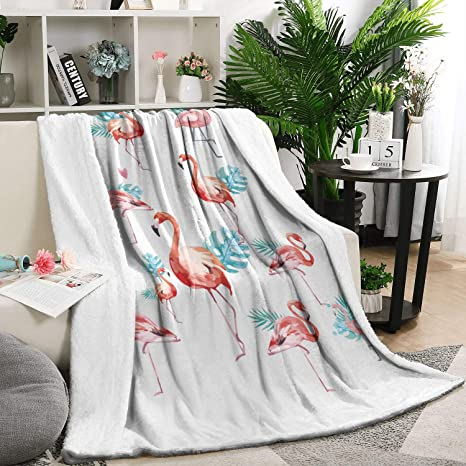 Amazon.com: Heart Wolf Leaves and Flamingos White 5979 Inch ...