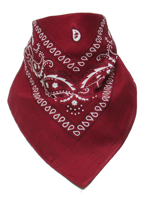 Bandana with original Paisley pattern in dark red 2Store