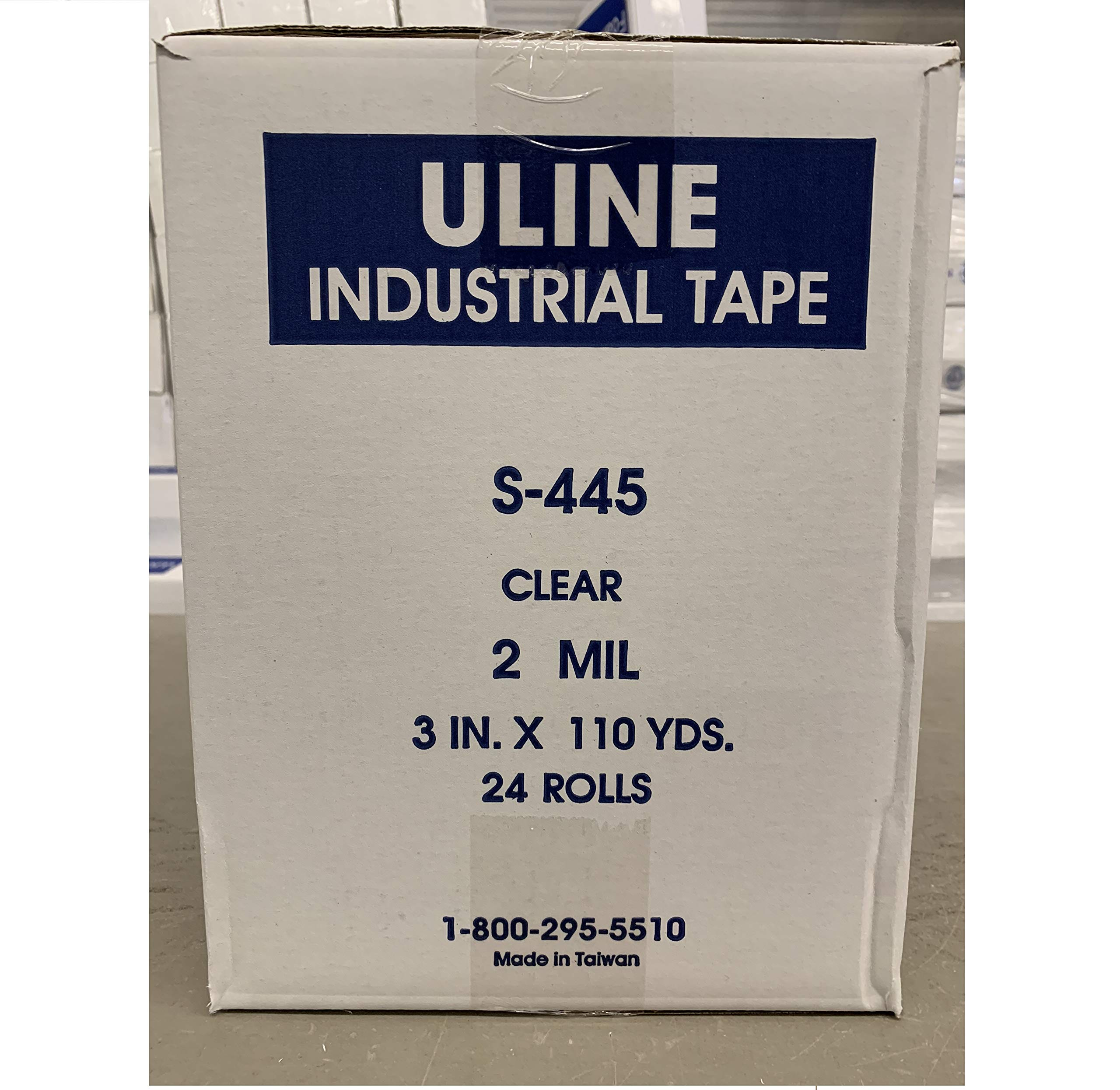 Uline Industrial Tape - 2 Mil, 3'' x 110 yds, Clear 24 Pack