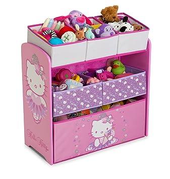 d359b05ca Delta Children Hello Kitty Multi-Bin Toy Organizer: Amazon.co.uk ...