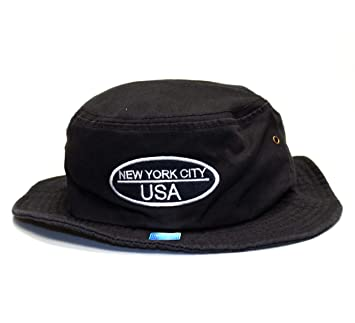 5fa811b8391 Amazon.com  City Hunter Bd1140 Cotton Design Bucket Hat - Usa Oval Felt  (Black - L xl Size)  Everything Else