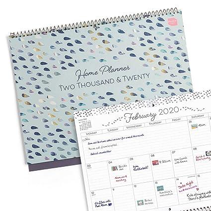 Boxclever Press Home Planner calendario 2020. Planificador mensual con 16 meses comienza desde ahora hasta diciembre 2020. Perfecto calendario pared ...