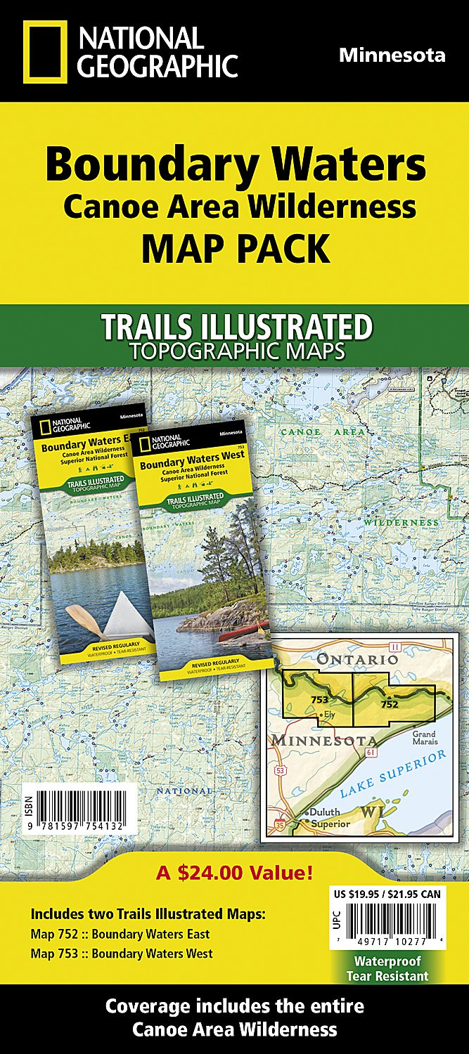 Boundary Waters Canoe Area Wilderness [Map Pack Bundle] (National ...