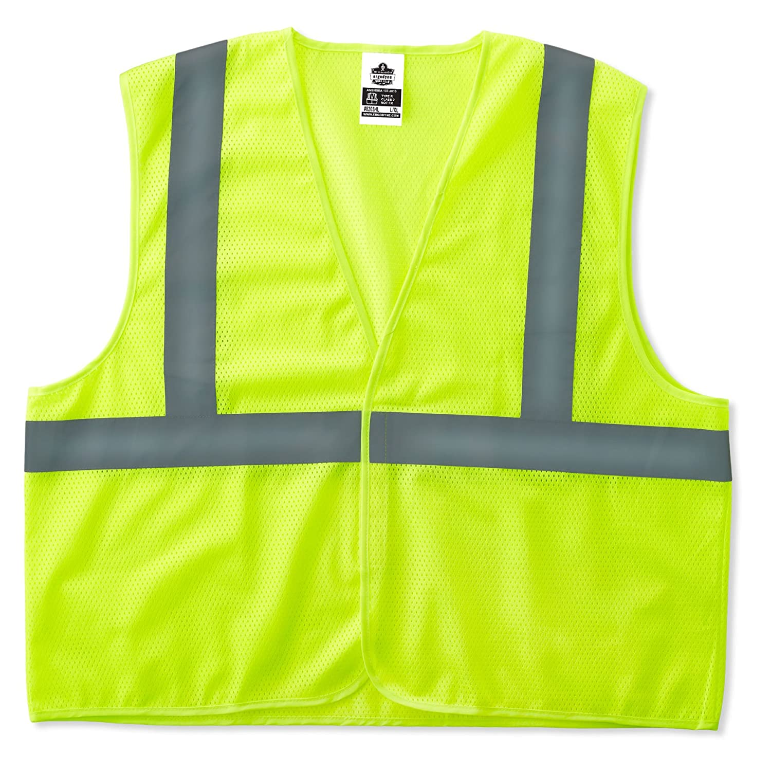 GloWear 8205Z ANSI Economy High Visibility Orange Reflective Safety Vest, Zipper Closure, 2XL/3XL Ergodyne