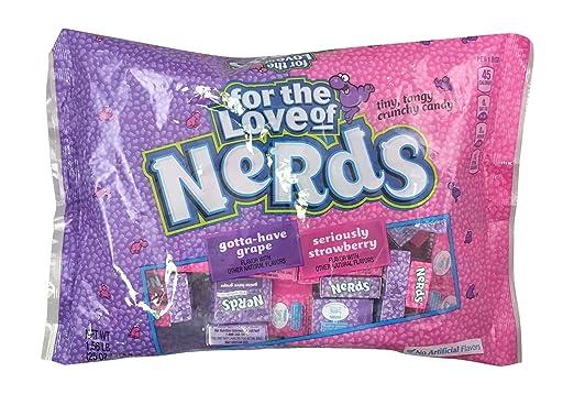 Nerds – Paquete de dulces de fresa y uva – 59 piezas bolsa ...