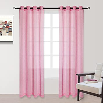 Voilybird Beautiful Pink Curtains Drapes For Girls Room