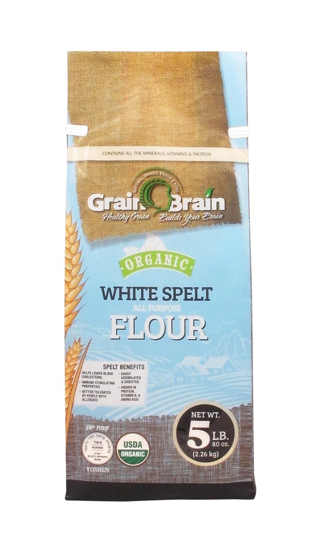 Grain Brain Harina de espelta orgánica blanca