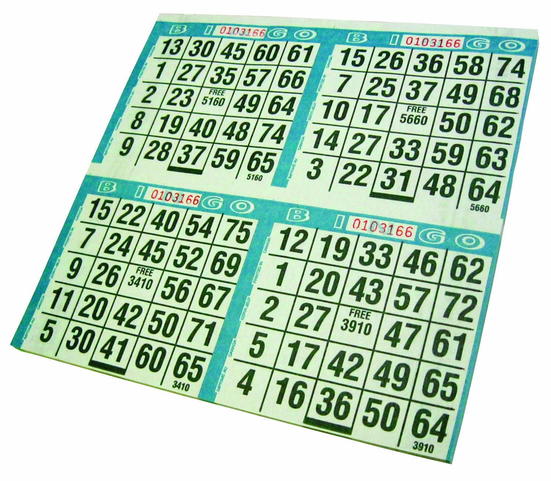 Primo Bingo Game Sheets 8X8 125/Pkg-500 Games Crafty Dab 77735