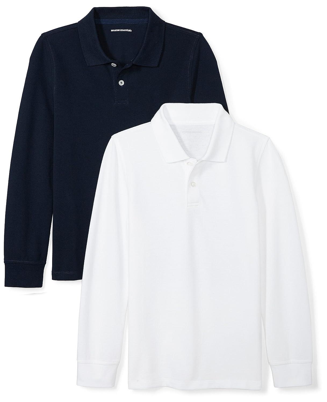 Essentials Boys 2-Pack Long-Sleeve Pique Polo Shirt BAE40013F18