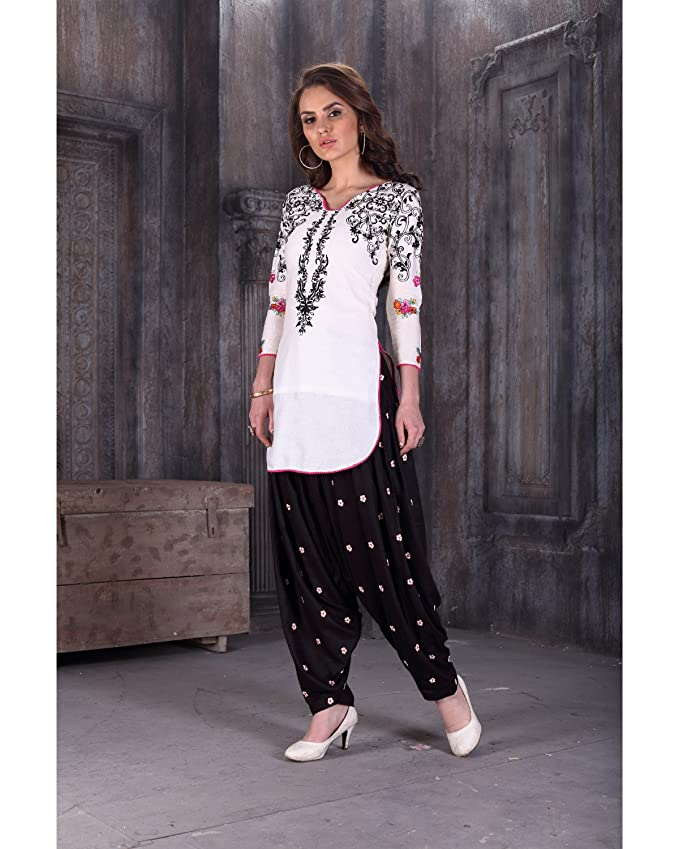 1303796739 Amazon.com: Ready Made Patiala Salwar Embroidered Cotton Salwar Kameez Suit  India/Pakistani Dress OF 9009 (MEDIUM): Clothing