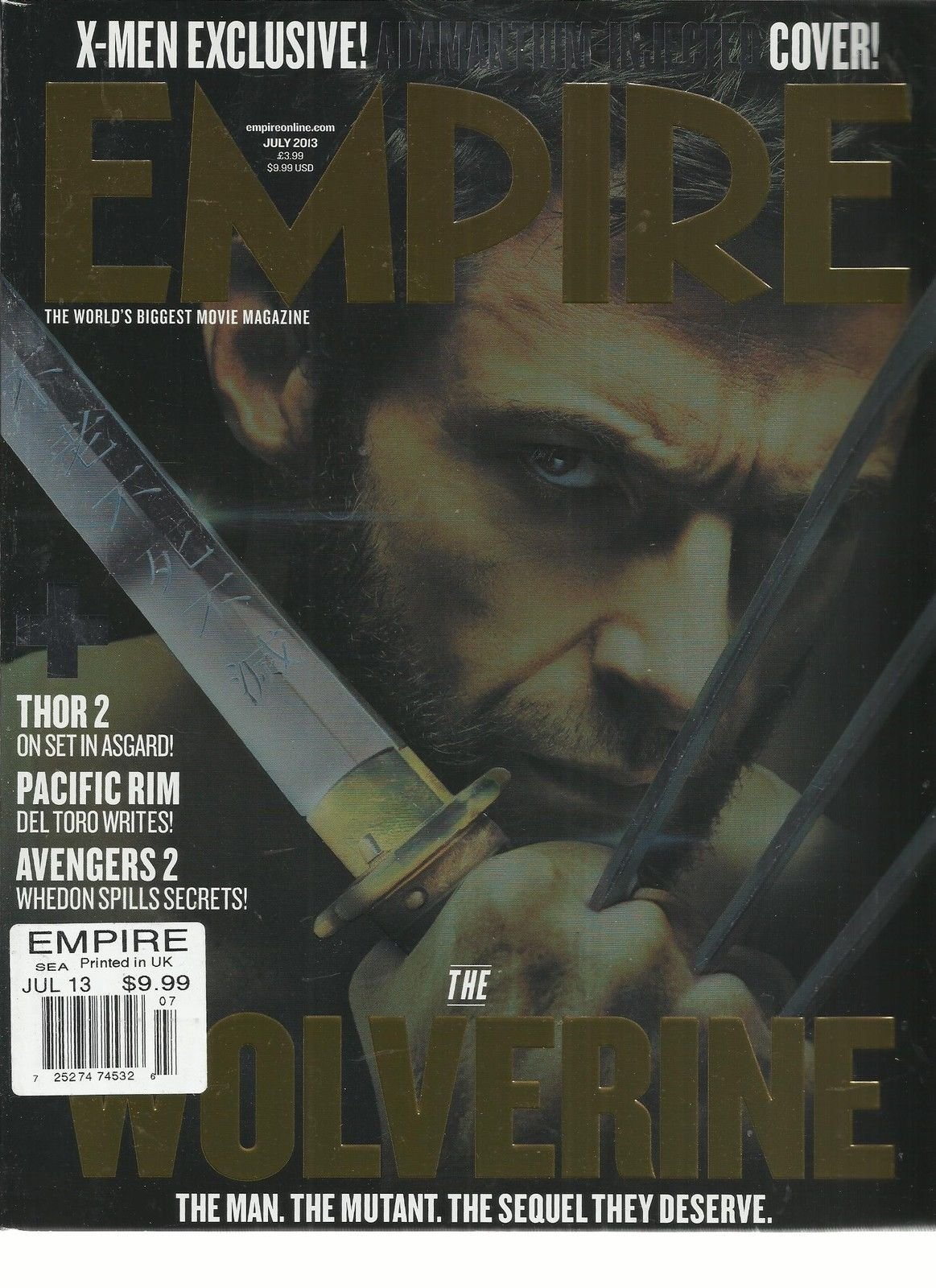 EMPIRE, JULY, 2013 (THE WORLD'S BIGGEST MOVIE MAGAZINE * THE WOLVERINE)