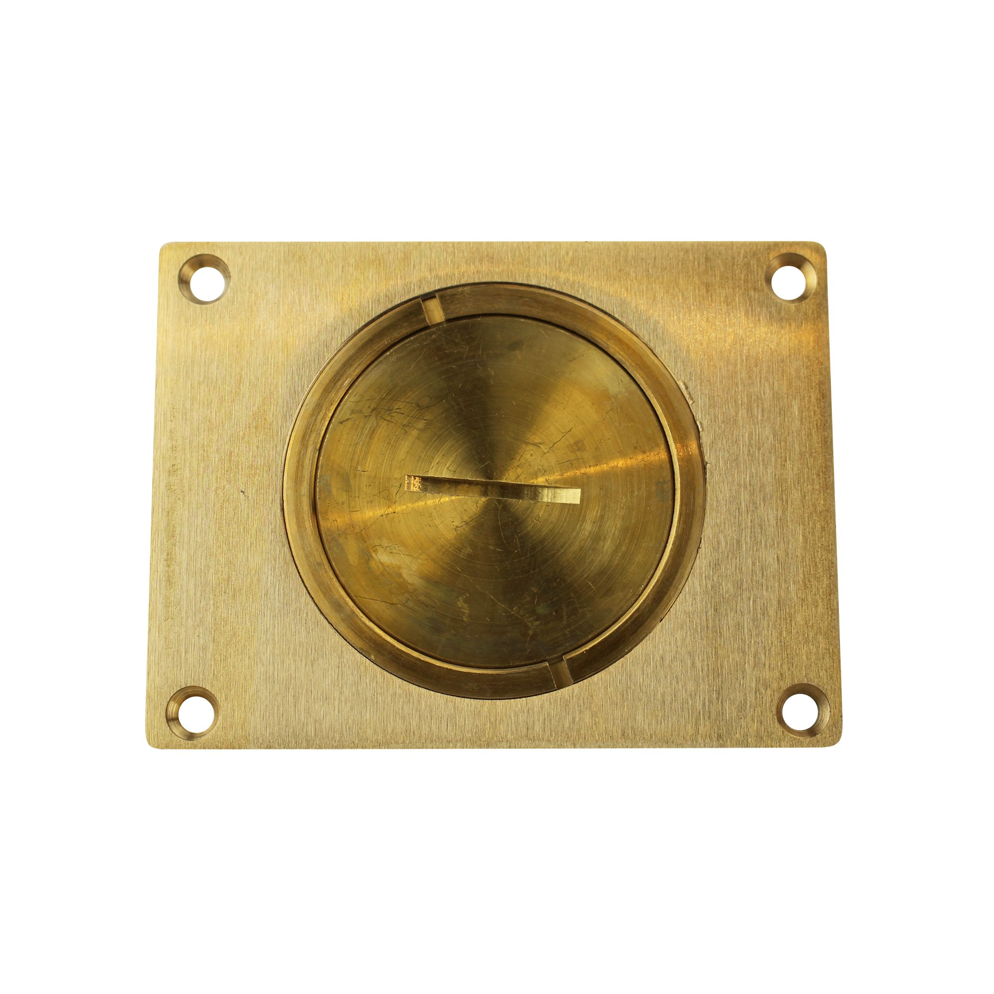 Wiremold 829CK Brass 1-Gang Rectangular Communication Cover Plate 4-3/16 Inch x 3-1/8 Inch Brown