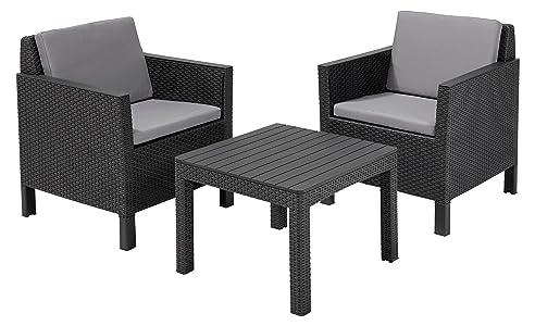 Lounge Set Garten. Affordable Garten Lounge Set Granada Naturgrau ...