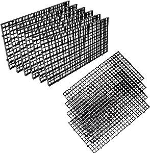 OBANGONG 10 Pcs Black Aquarium Divider Trays Plastic Grid Isolate Board Divider Durable Filter Grid Segregation Board for Mixed Breeding