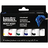 Liquitex Professional Heavy Body Acrylic 6-Pack - Color Set