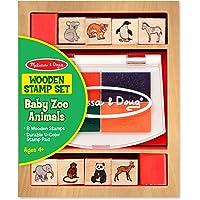 Melissa & Doug Juego de sellos de animales de zoologico bebes