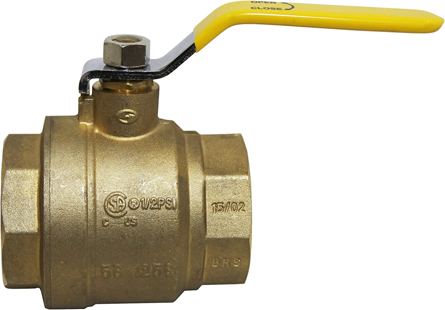 Female 3 Chandler Equipment 1037-0300LF Lead Free Brass Ball Valve 3