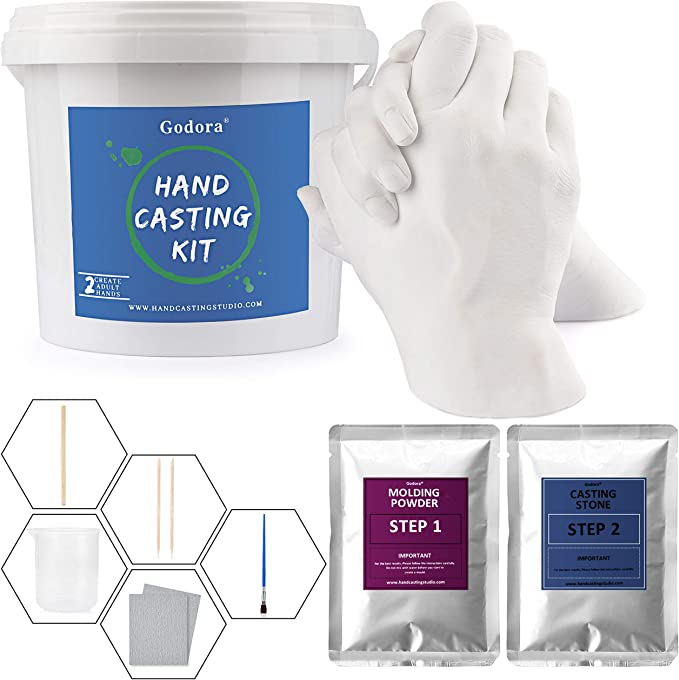 Friends Keepsake Hands Casting Kit Anniversary Hand Holding Craft for Couples Adult /& Child Large Wedding DIY Plaster Statue Molding Kit