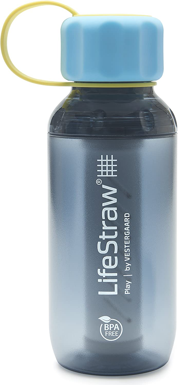 LifeStraw Play Kids Water Filter Bottle with 2-Stage Integrated Filter Straw for Safe and Clean Drinking Water