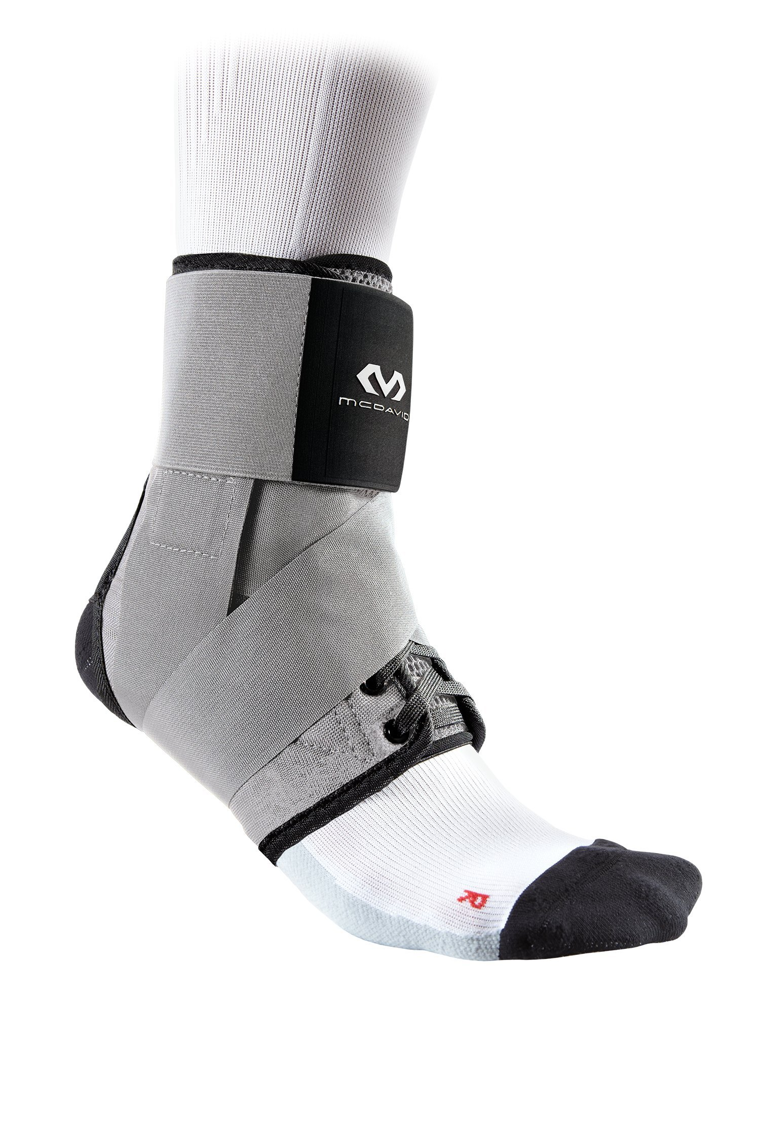 McDavid Level 3 Ankle Brace with Straps, Gray, X-Small by McDavid (Image #1)