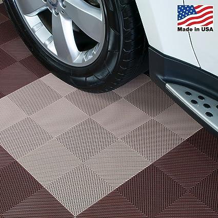 Drain Perforated Interlocking Garage Flooring Tiles 12 X 12 X 12