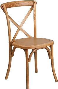 Flash Furniture Oak Cross Back chair, 1 Pack