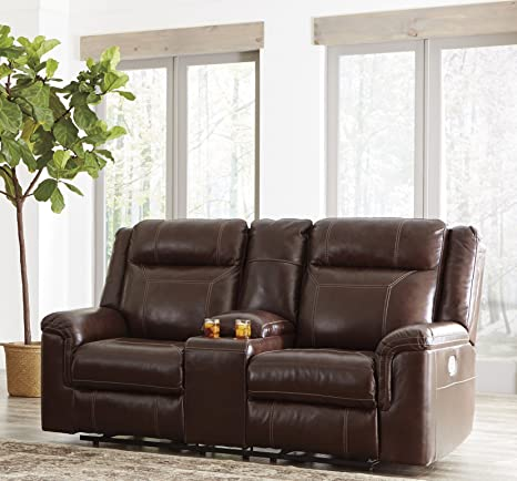 Super Amazon Com Wyline Coffee Color Faux Leather Power Reclining Pdpeps Interior Chair Design Pdpepsorg