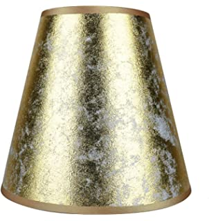 Urbanest Metallic Hardback Chandelier Lamp Shade, 3-inch by 6-inch ...