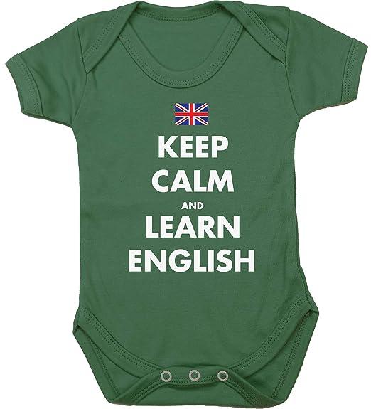 HippoWarehouse Keep Calm and Learn English Chaleco para bebés Pijama de Manga Corta para niños Unisex: Amazon.es: Ropa y accesorios