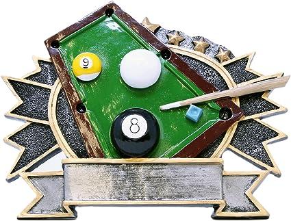 Snooker//Pool//Billiards medal in plastic case including Engraved plate