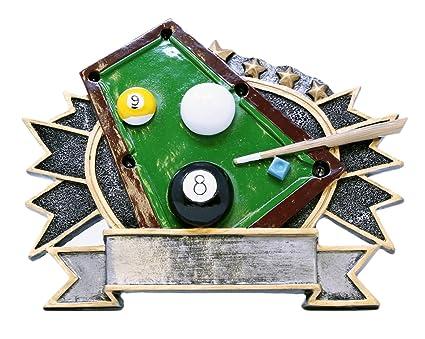 Amazon.com: Trofeo con diseño de billar y piscina de Decenio ...
