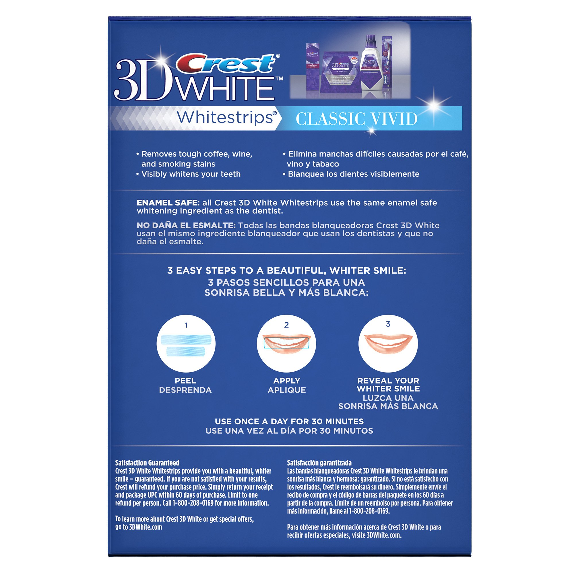 Crest 3D White Whitestrips Classic Vivid Teeth Whitening Kit, 12 Treatments - 24 Strips by Crest (Image #5)