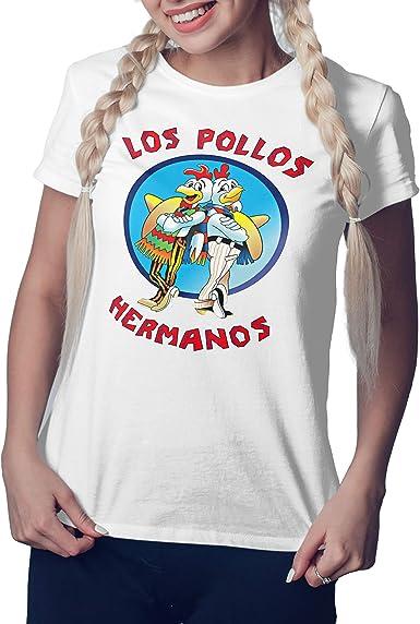 Breaking Bad Los Pollos Hermanos Restaurant Albuquerque Blanca Camiseta Mujer: Amazon.es: Ropa y accesorios