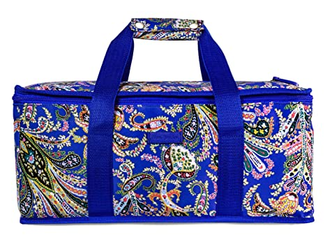 Vera Bradley Insulated Casserole Carrier with Zip Closure and Handles, Fits  Up To Two 13x9 Baking Dishes (Romantic Paisley)