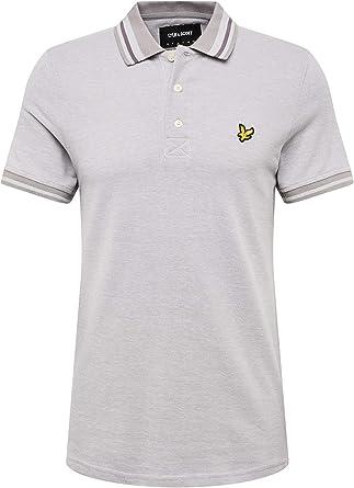 Lyle & Scott Camisa Polo Gris con Punta de Piedra de Oxford ...