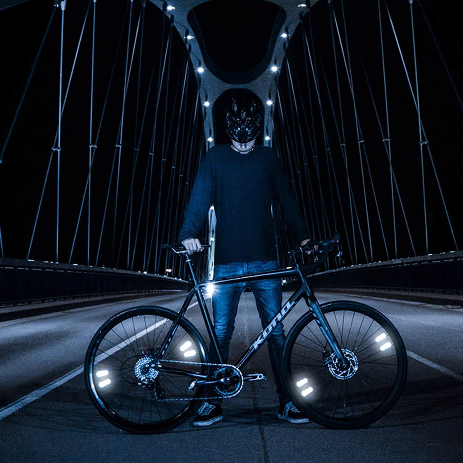 show original title Details about  /LED Magnetic Light Reflective Strobe running shoes to Cycling Foot Bicycle P9U7