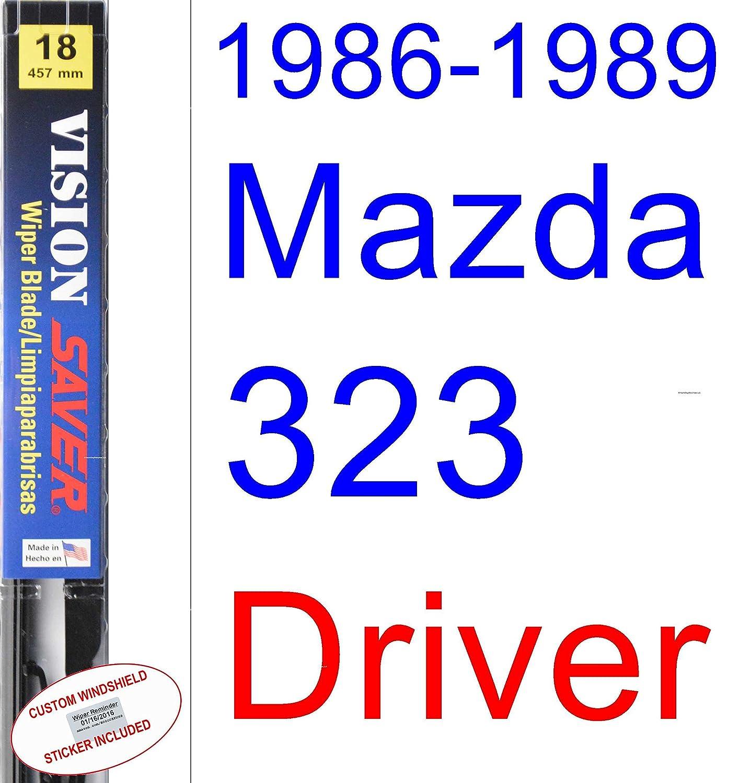 Amazon.com: 1986-1989 Mazda 323 Wiper Blade (Driver) (Saver Automotive Products-Vision Saver) (1987,1988): Automotive