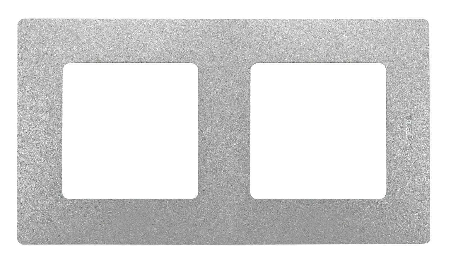 Legrand 448397042/ placa 2/ V Vertical//Horizontal Niloe Alu