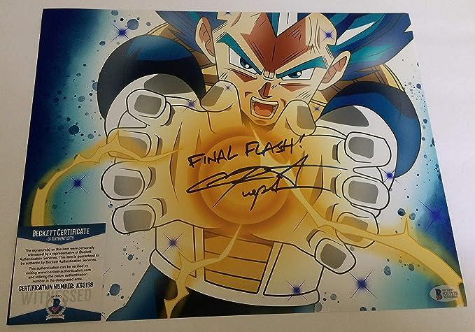 Chris Sabat autographed 11x14 photograph Dragon Ball Z Super Vegeta  Beckett
