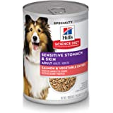 Hill's Science Diet Wet Dog Food, Adult, Sensitive Stomach & Skin, 12-pack