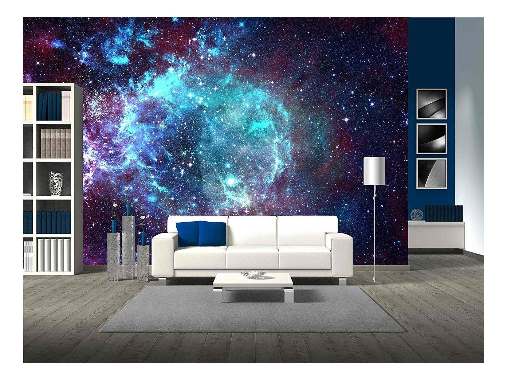 wall26 - Star Field in Space a Nebulae and a Gas Congestion - Removable Wall Mural | Self-Adhesive Large Wallpaper - 100x144 inches by wall26