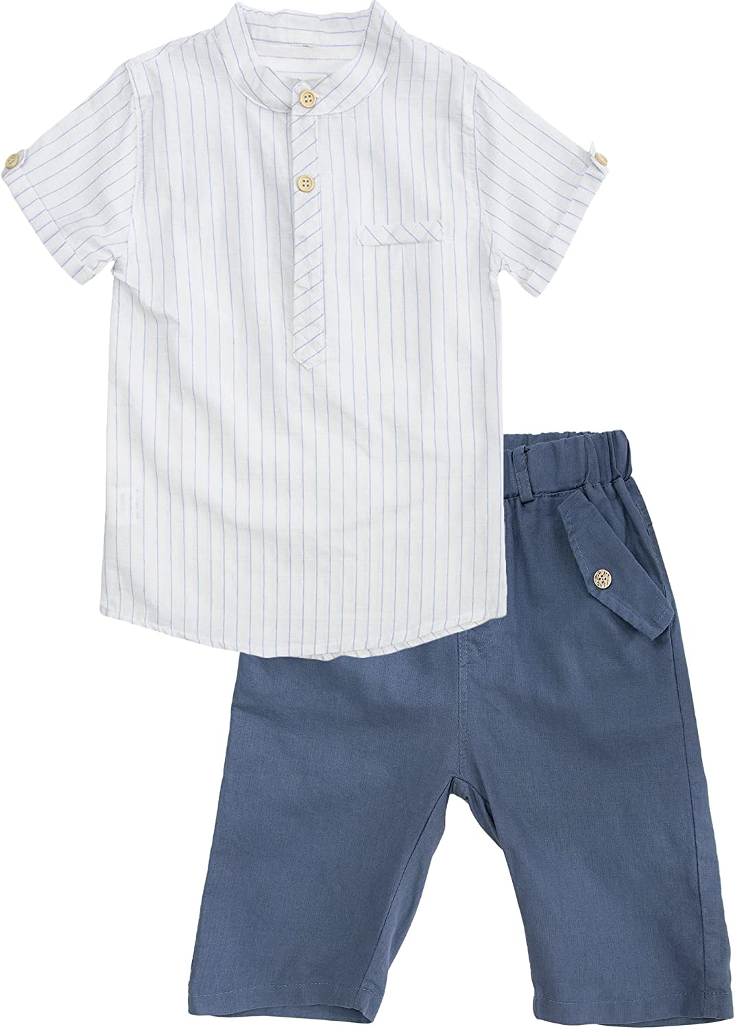 POBIDOBY Big Boys Cotton Two-Pieces Tshirt Shirt and Short Sets Set