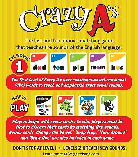 Amazon.com: Crazy A's Card Game: Toys & Games